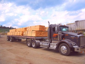 Tractor trailer load ready for shipment.