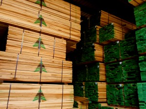 Turman Lumber packs with green